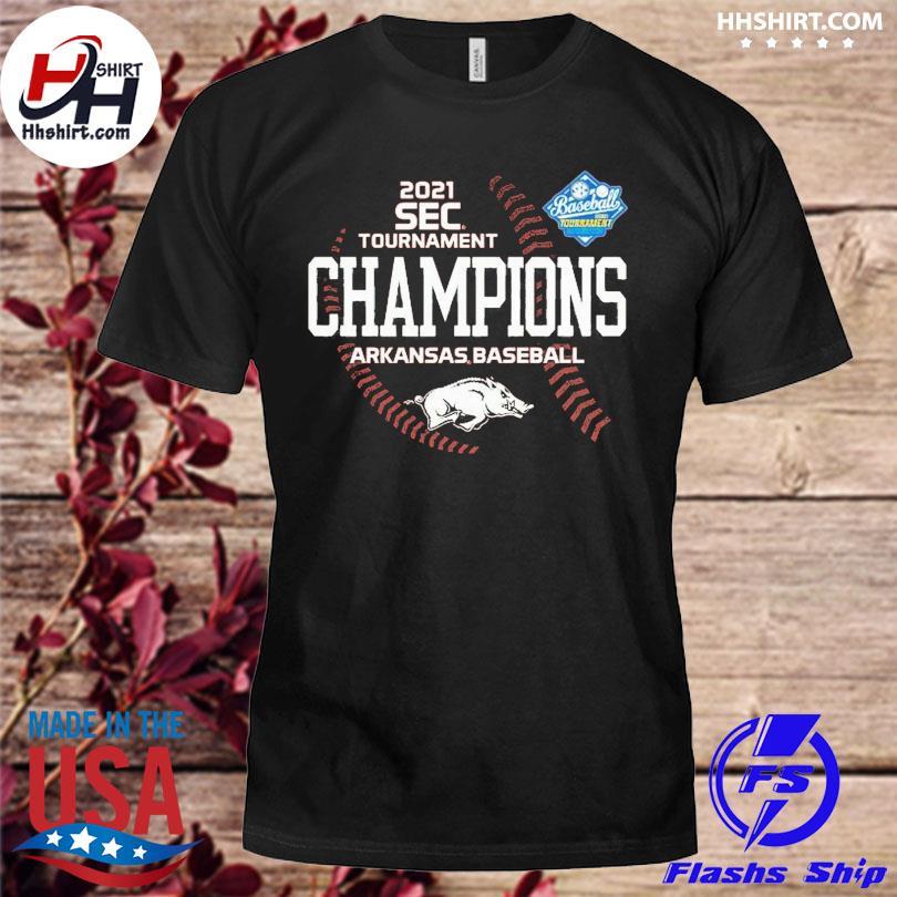 Official Arkansas Razorbacks 2021 SEC Baseball Tournament Champs shirt