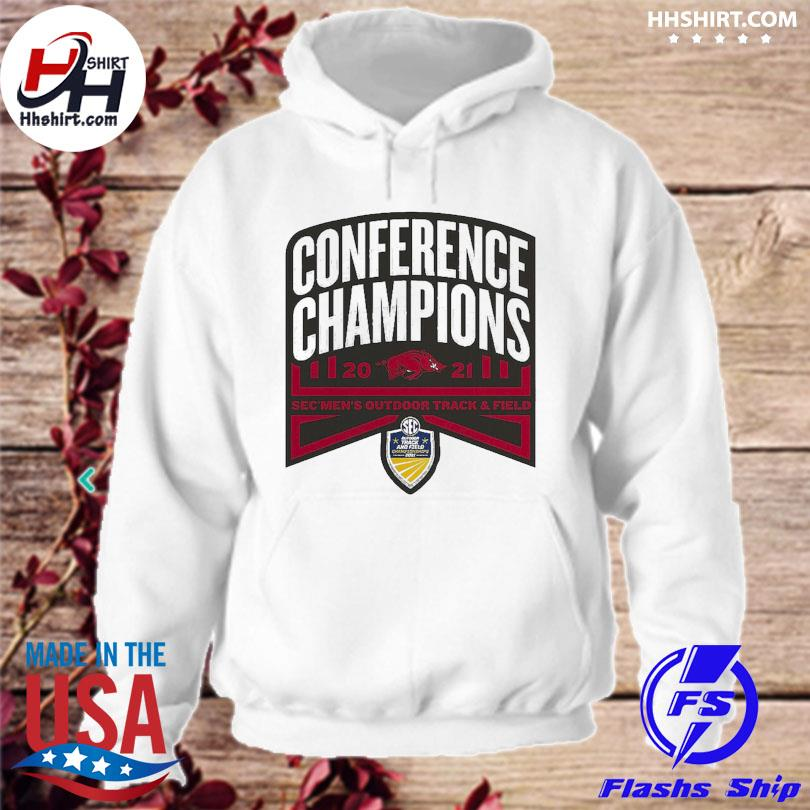 Official Arkansas Razorbacks conference champions 2021 sec men's outdoor track and field s hoodie