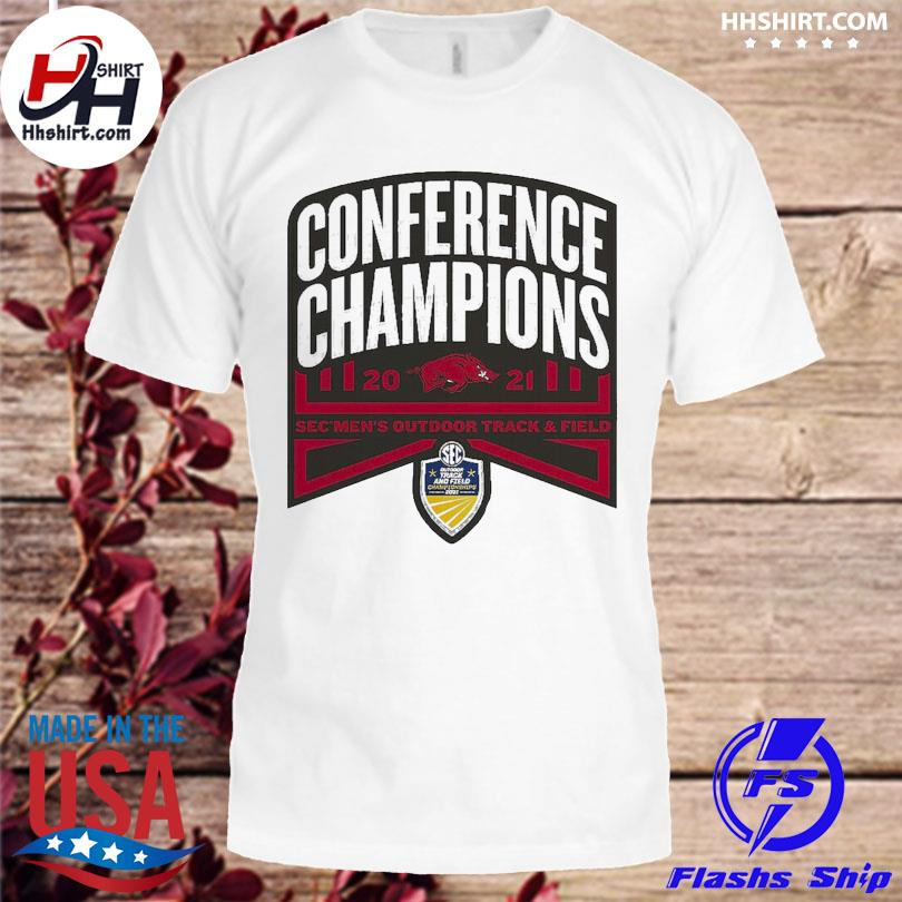 Official Arkansas Razorbacks conference champions 2021 sec men's outdoor track and field shirt