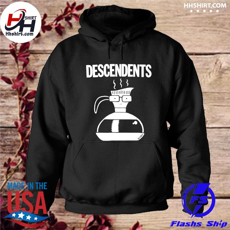 Official Descendents large coffee pot s hoodie
