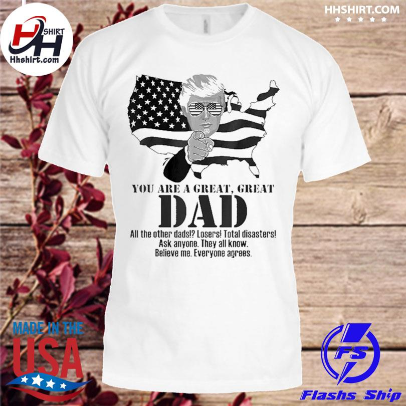 Official Great dad Donald Trump fathers day shirt