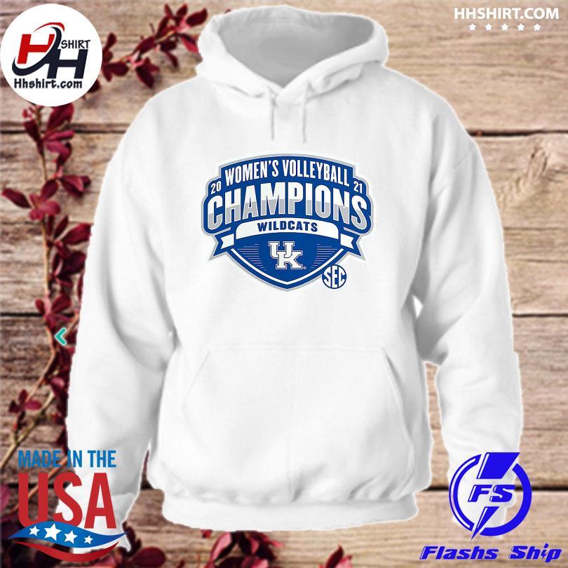 Official Kentucky Wildcats 2021 SEC Women's Volleyball Season Champions s hoodie