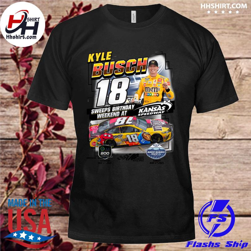 Official Kyle Busch 18 sweeps bỉthday weekend at shirt