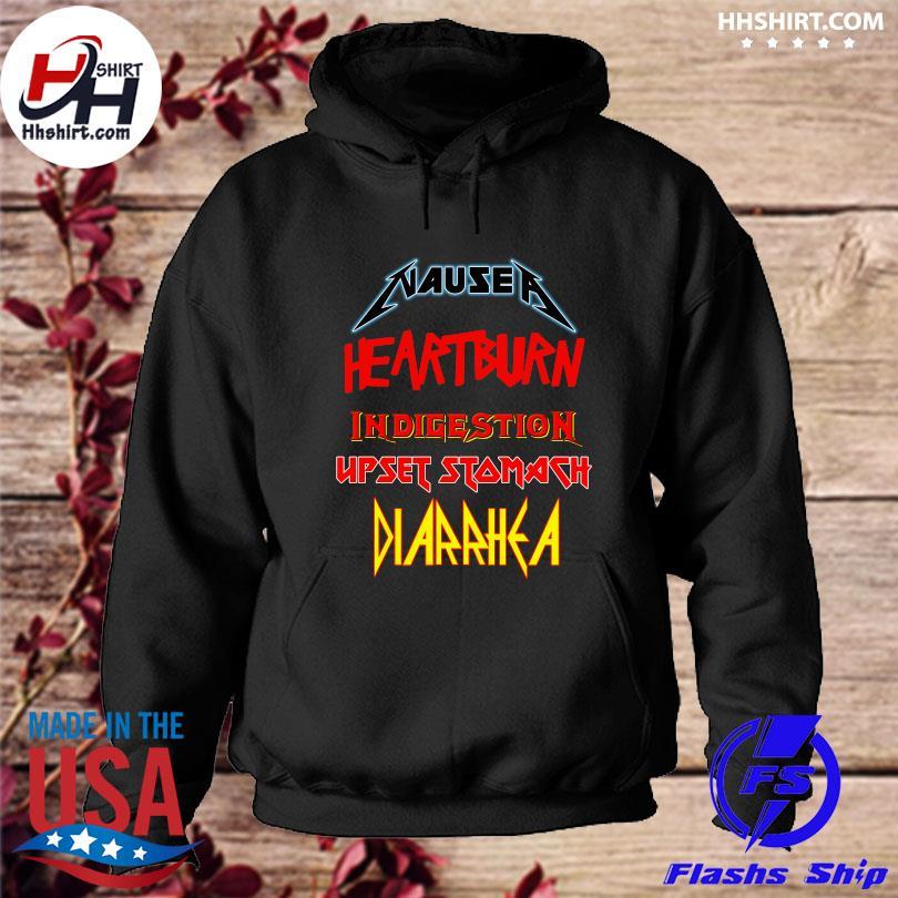 Official Nausea heartburn indigestion upset stomach diarrhea s hoodie