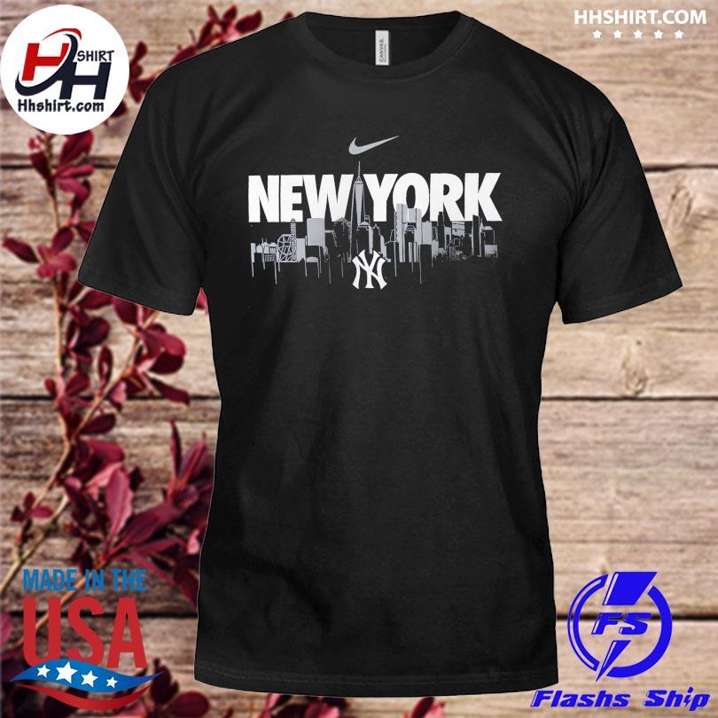 Official New york yankees nike local skyline legend performance shirt