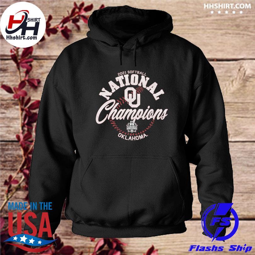 Official Oklahoma Sooners Blue 84 2021 ncaa softball women's college world series champions s hoodie