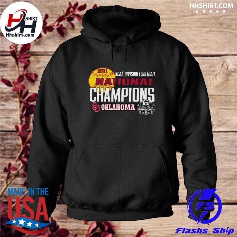 Official Oklahoma sooners women's 2021 ncaa softball women's college world series champions locker room s hoodie