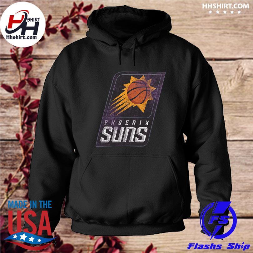 Official Phoenix suns fanatics branded distressed logo tri-blend s hoodie