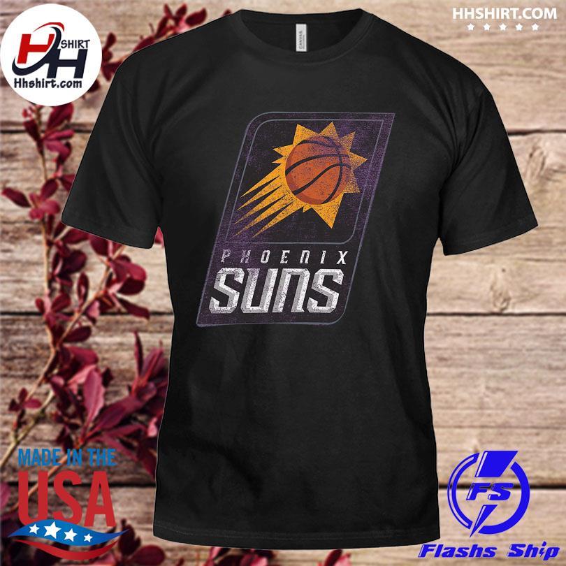 Official Phoenix suns fanatics branded distressed logo tri-blend shirt