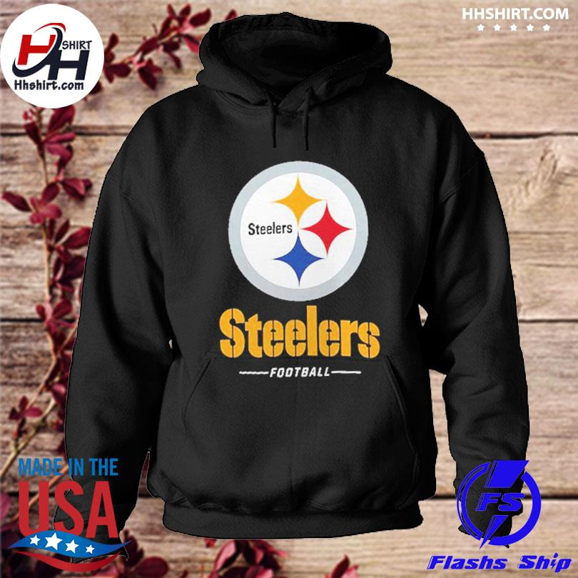 Official Pittsburgh steelers fanatics branded team lockup logo s hoodie