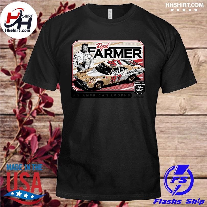 Official Red farmer checkered flag nascar hall of fame class of 2021 shirt