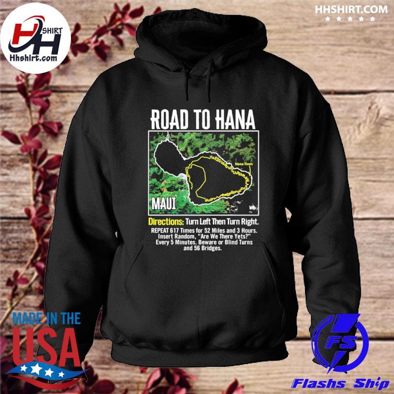 Official Road to hana map maui island guide hawaii hawaiian s hoodie