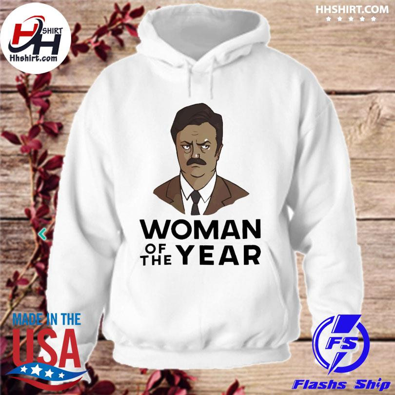 Official Ron swanson woman of the year s hoodie