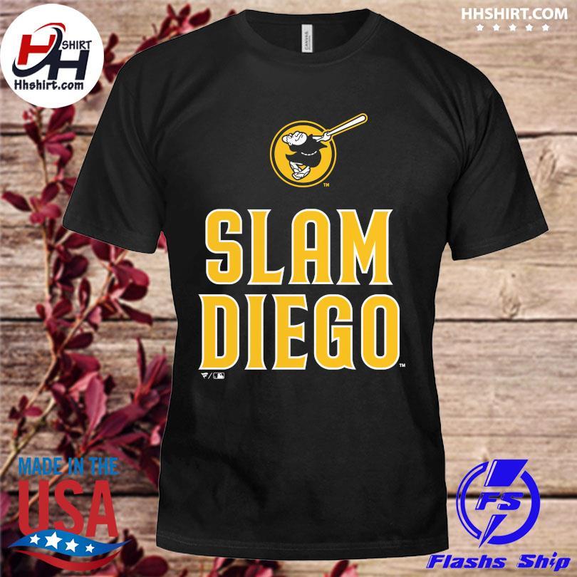 Official San diego padres fanatics branded slam diego shirt
