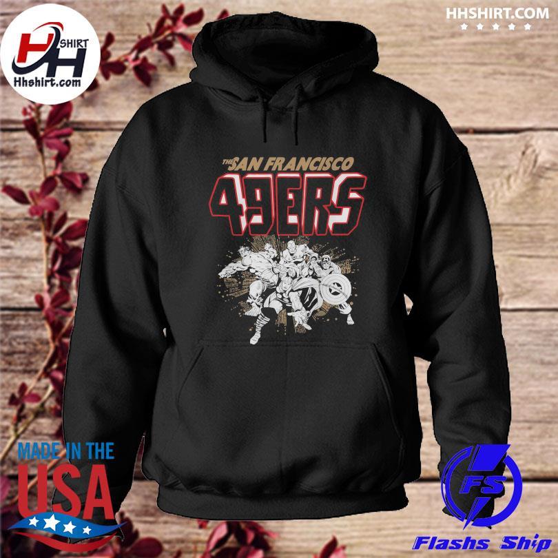 Official San francisco 49ers junk food marvel s hoodie