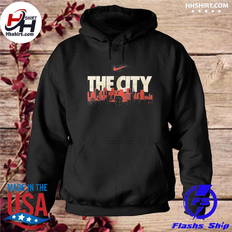 Official San francisco giants nike local skyline legend performance s hoodie