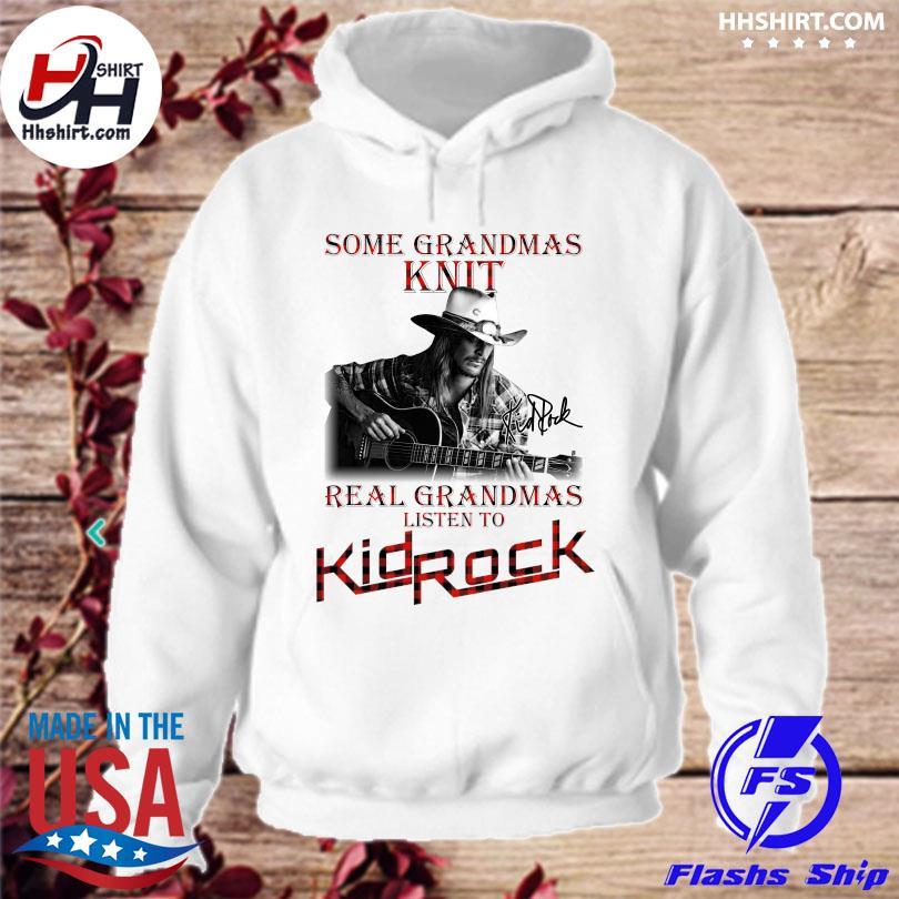 Official Some grandmas Knit grandmas real nghe nhạc Kid Rock signature s hoodie