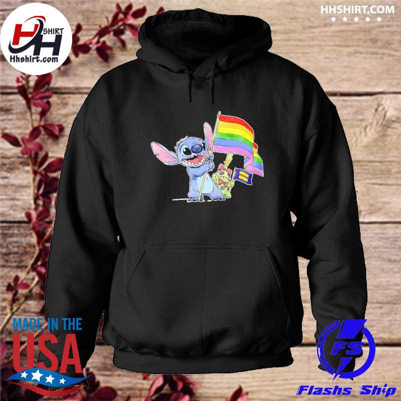 Official Stitch Support LGBT And Human Rights Love Wins Shirt hoodie