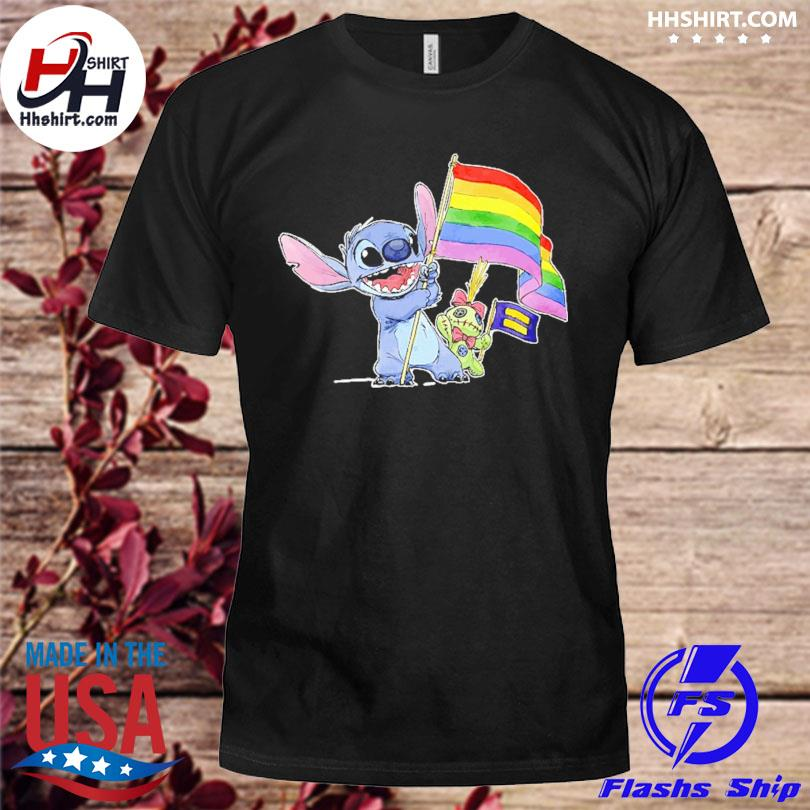 Official Stitch Support LGBT And Human Rights Love Wins Shirt