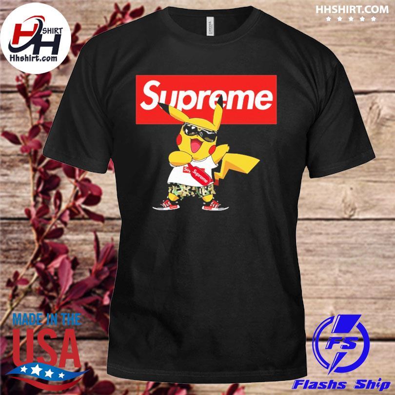 Official Supreme Pokemon Singing Pikachu Shirts