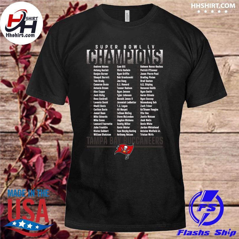 Official Tampa bay buccaneers fanatics branded super bowl lv champions t-shirt