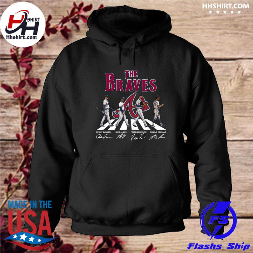 Official The Atlanta Braves Abbey Road signatures s hoodie