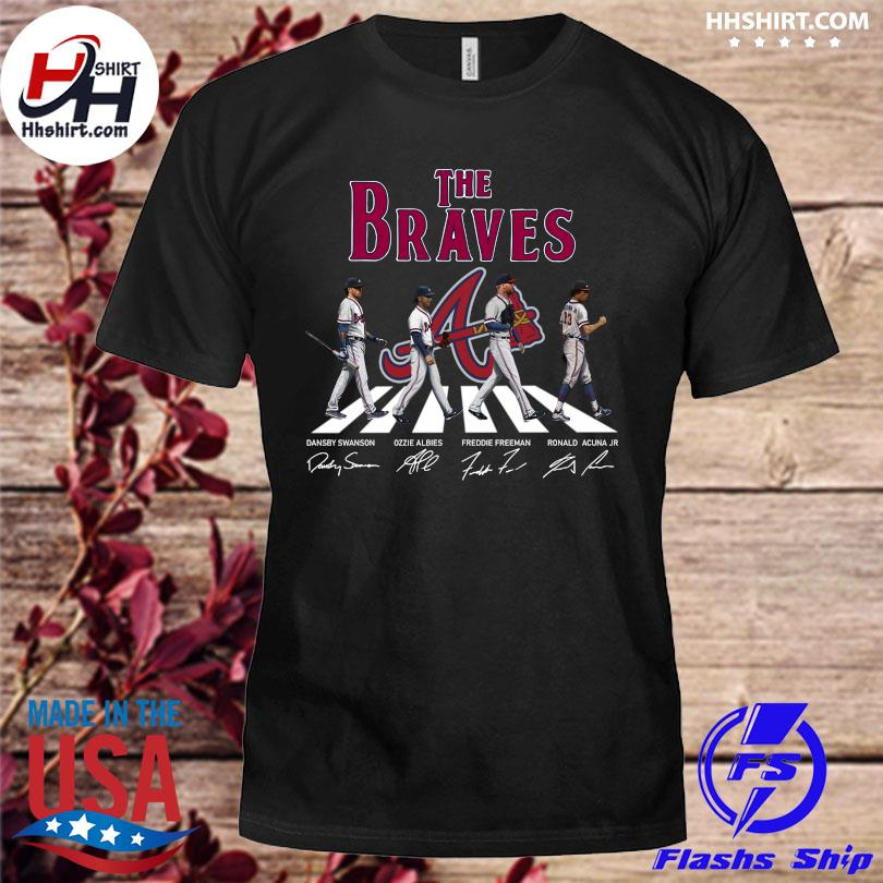 Official The Atlanta Braves Abbey Road signatures shirt