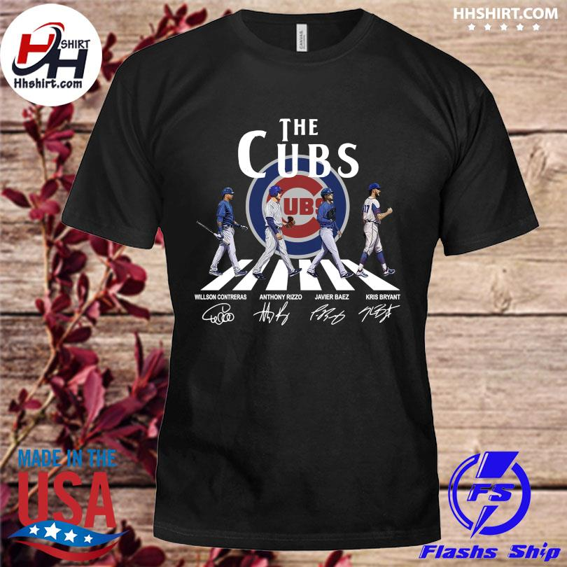 Official The Cubs Abbey road signatures shirt