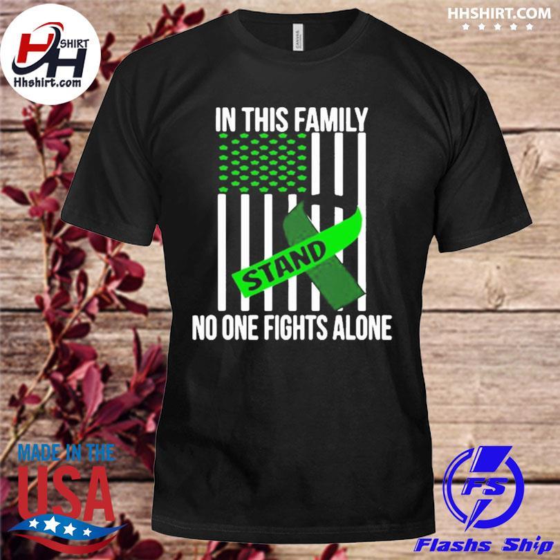 Official Usa flag green ribbon brain injury awareness shirt