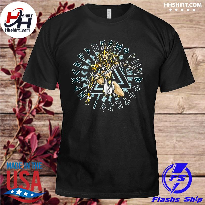 Official Valkyrie norse mythology chooser of the slain shirt