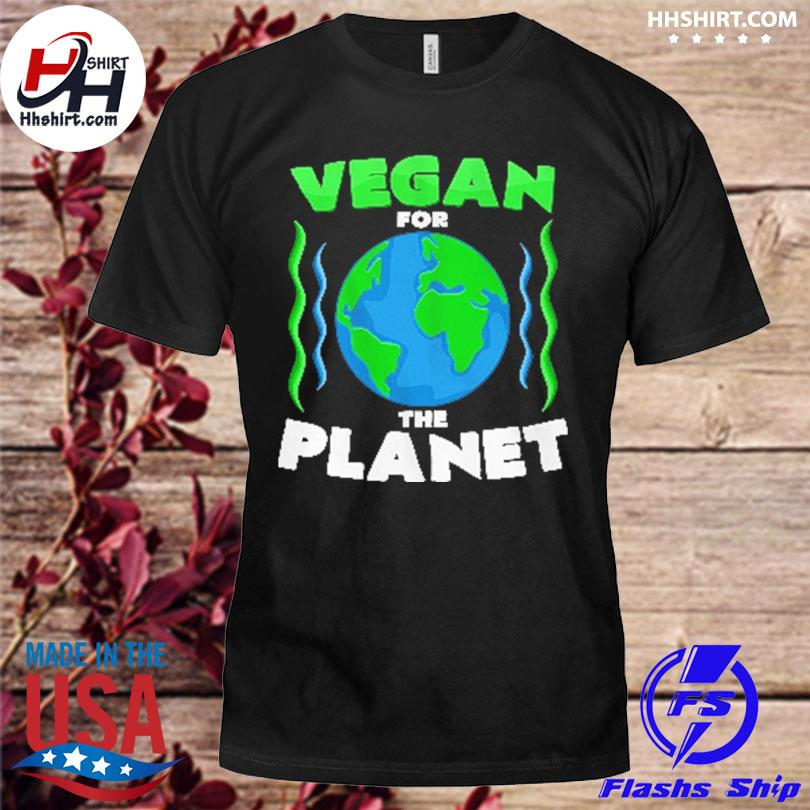 Official Vegan for the planet shirt
