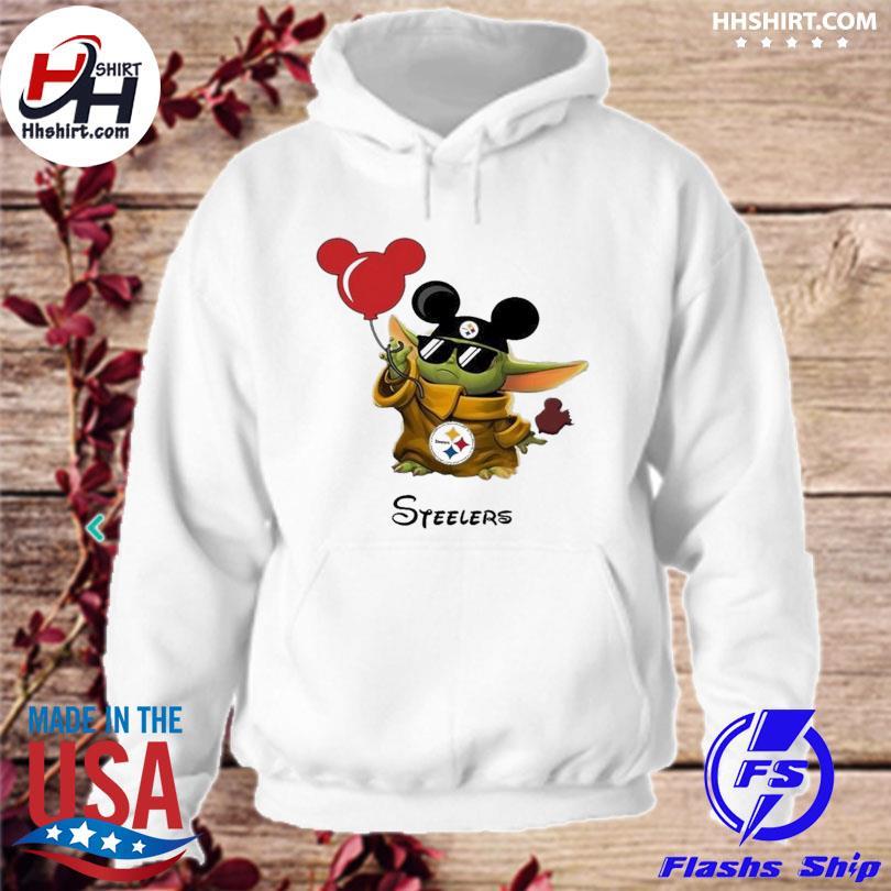 Pittsburgh Steelers Baby Yoda Vacay In Disneyland Fan s hoodie