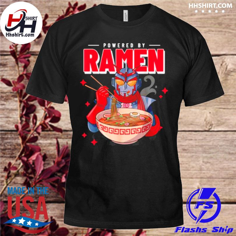 Powered by ramen japanese anime robot ramen noodles shirt