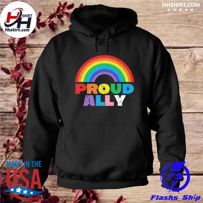 Proud Ally LGBT Rainbow Gay Pride Month s hoodie