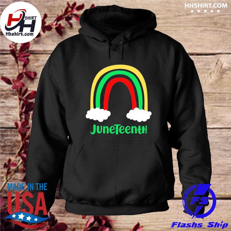 Rainbow Juneteenth Shirt hoodie