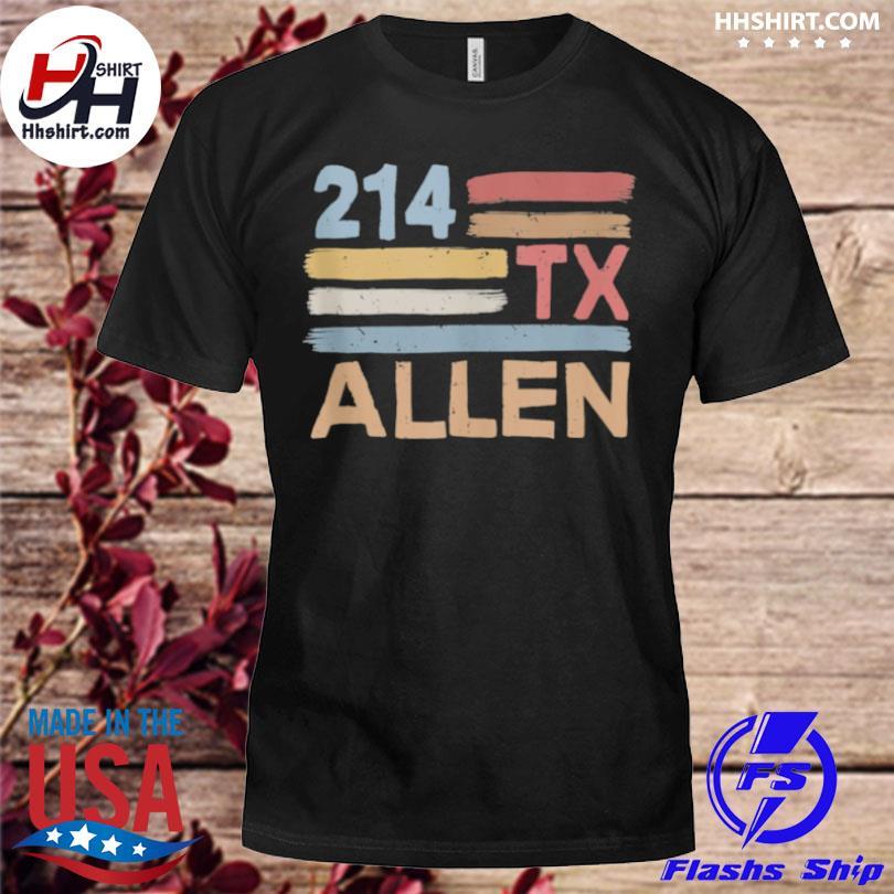 Retro allen area code 214 residents state Texas shirt