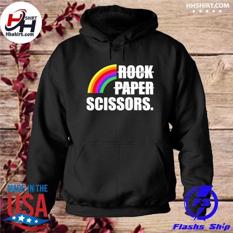 Rock Paper Scissors LGBT Shirt hoodie