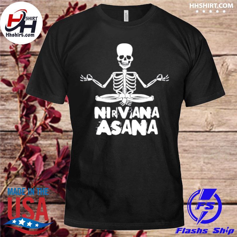 Skeleton yoga nirvana asana shirt