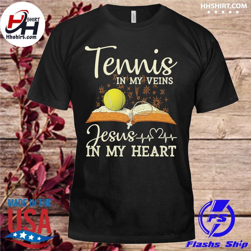 Tennis jesus in heart shirt