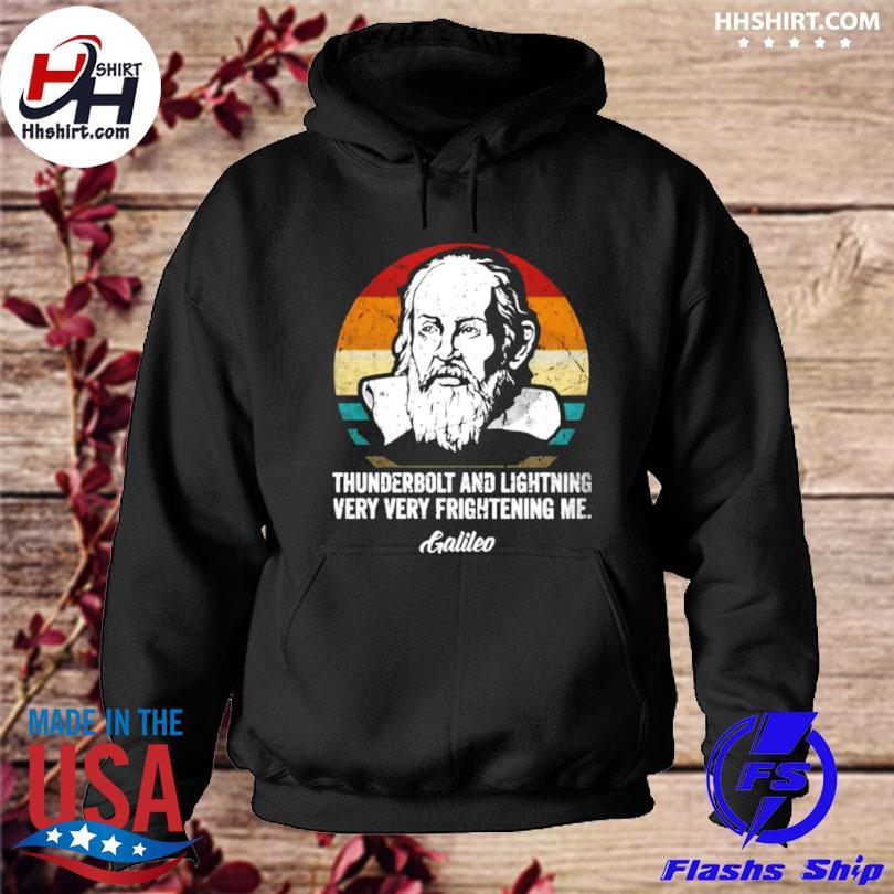 Thunderbolt lightning galileo philosopher physics astronomy vintage s hoodie