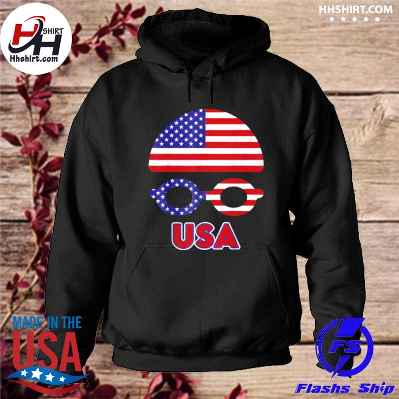 Usa swimming American flag s hoodie
