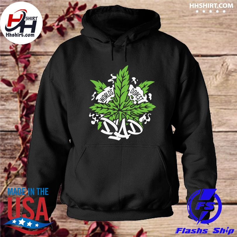 World's dopest dad cannabis leaf weed father day us 2021 s hoodie