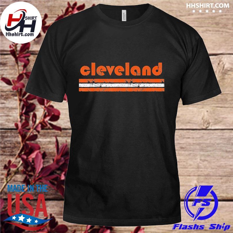 Cleveland Ohio Vintage Three Stripe Weathered shirt