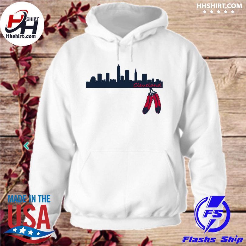 Cleveland Skyline Native American s hoodie