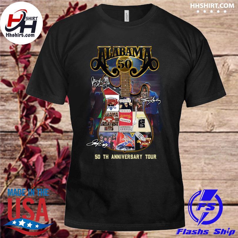 Funny Alabama 50th anniversary Tour Guitar signatures shirt