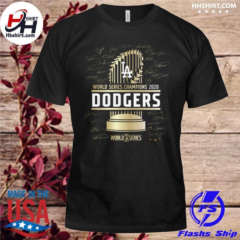Los Angeles Dodgers 2020 World Series Champions Signature shirt