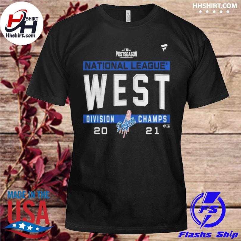 Los angeles dodgers national league nl west division champions 2021 sport shirt
