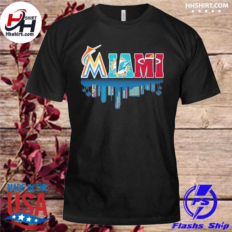 Miami Miami Marlins Baseball Water Reflection City shirt
