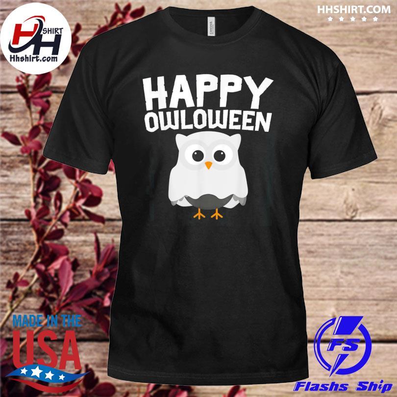 Owloween Cute Ghost Owl Lovers Halloween shirt