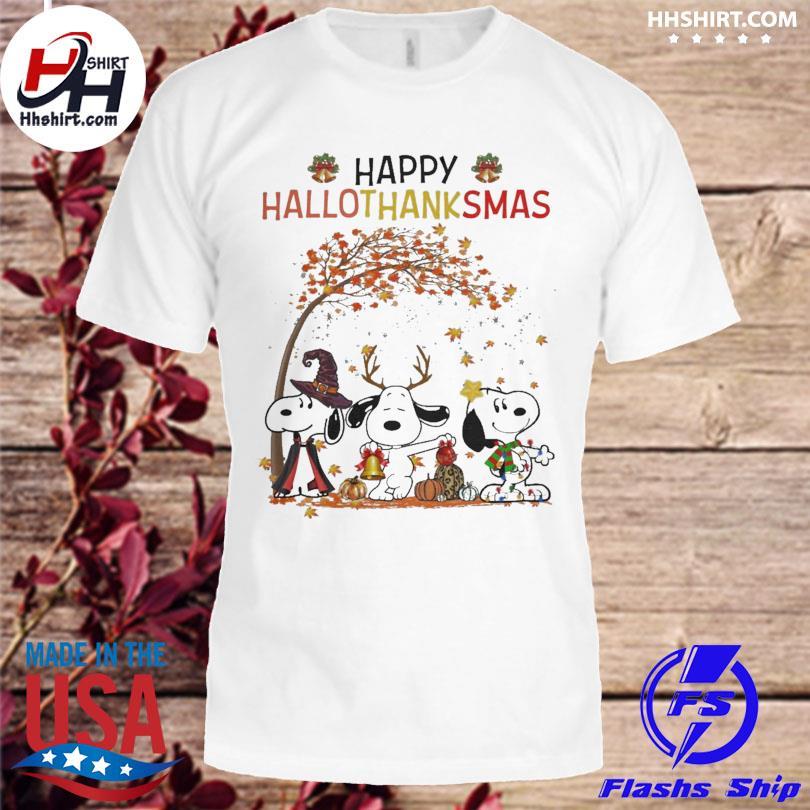 Snoopy Happy Hallothanksmas Fall Halloween shirt